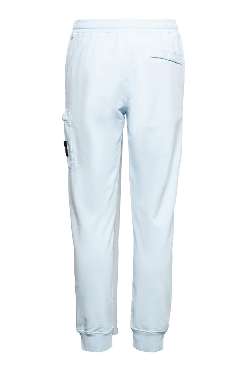 Stone Island Broek 64551 Cotton Fleece Pants 100% Katoen Lichtblauw Foto 2