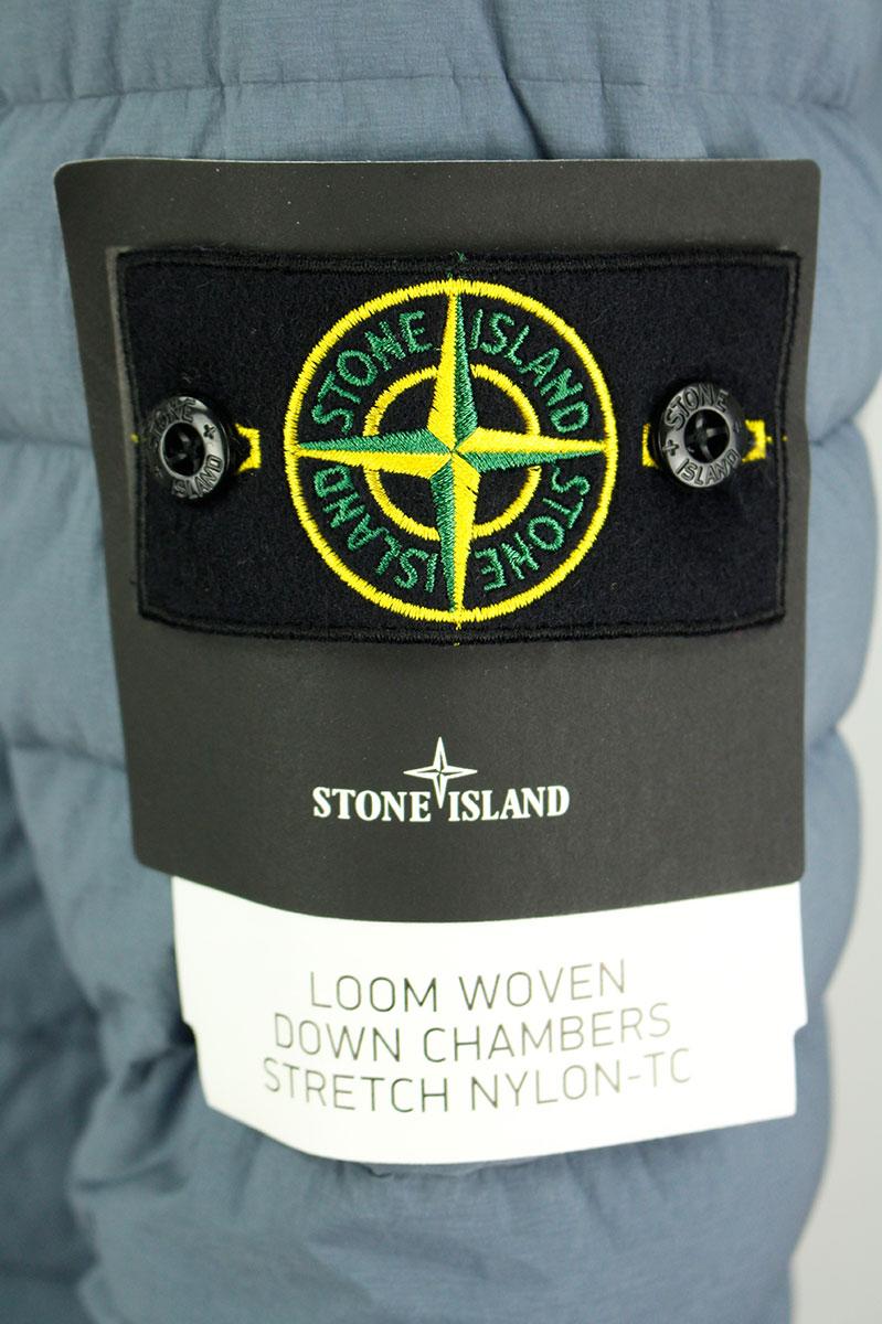 Stone Island Jas 43125 Loom Woven Down Chambers Stretch Nylon-TC Blauw Foto 4