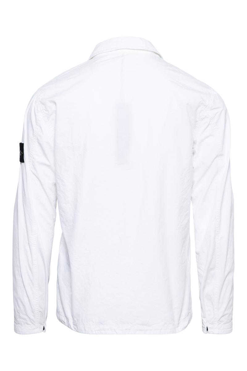 Stone Island Overshirt 117WN Pocket Smerigliata Cotton Wit Foto 2
