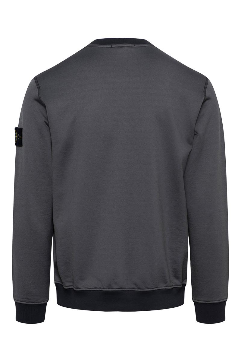 Stone Island Sweater 63547 Crew Neck Cotton mix antraciet Foto 2