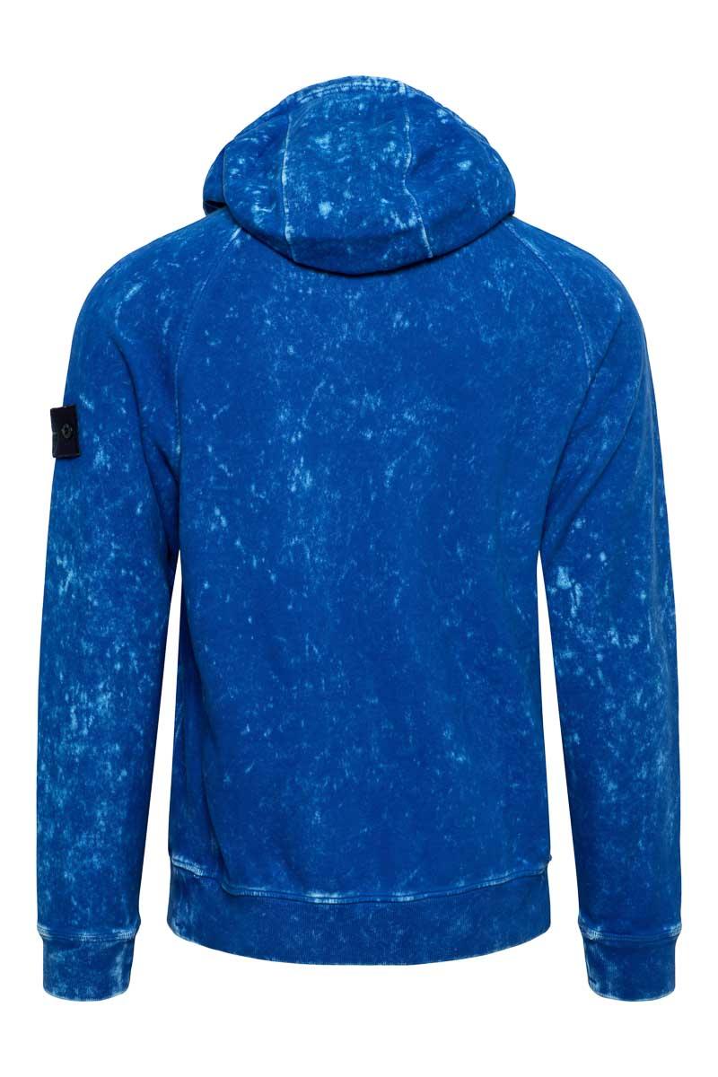 Stone Island Sweater Hoodie 61338 Cotton Dust Kobaltblauw Foto 2