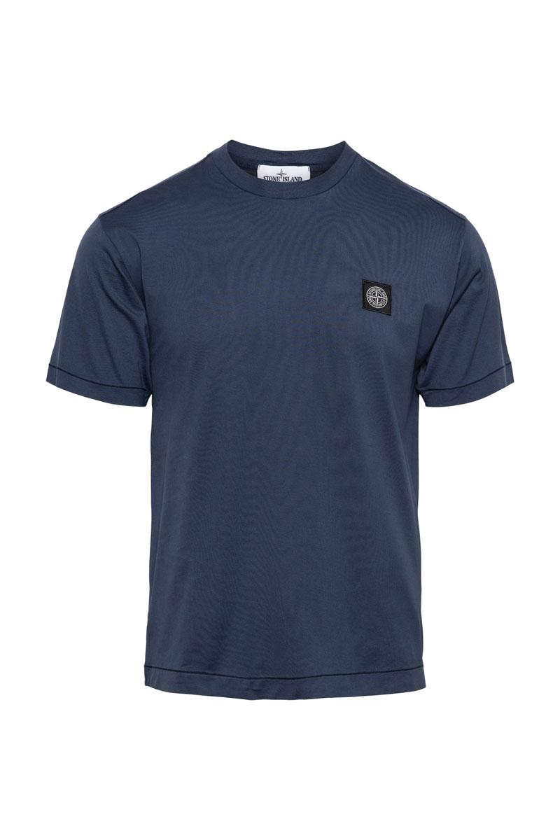 Stone Island T-Shirt 100% Katoen Gemerceriseerd