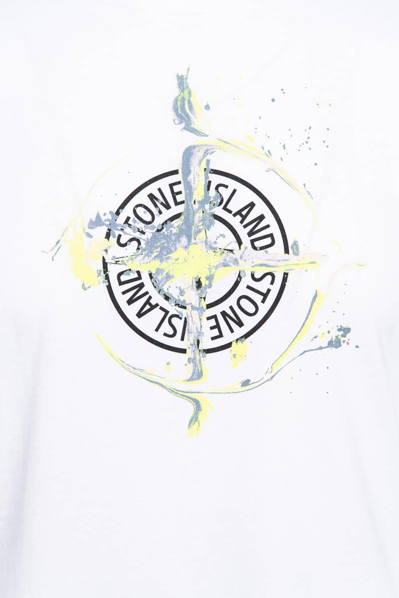 Stone Island T-Shirt 100% Katoen Print Foto 3