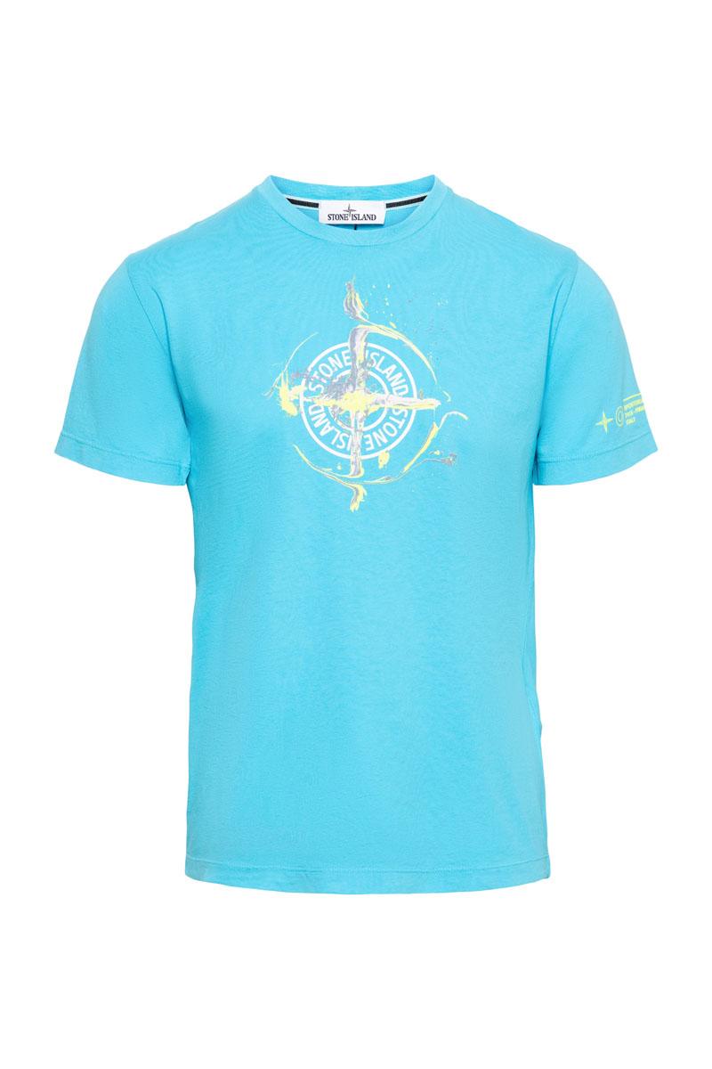 Stone Island T-Shirt 100% Katoen Print Foto 1