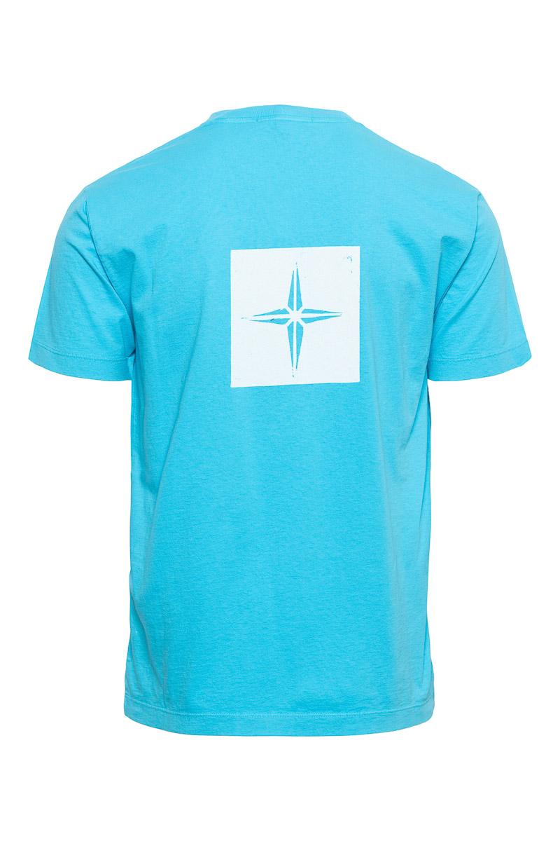 Stone Island T-Shirt 100% Katoen Print Foto 2