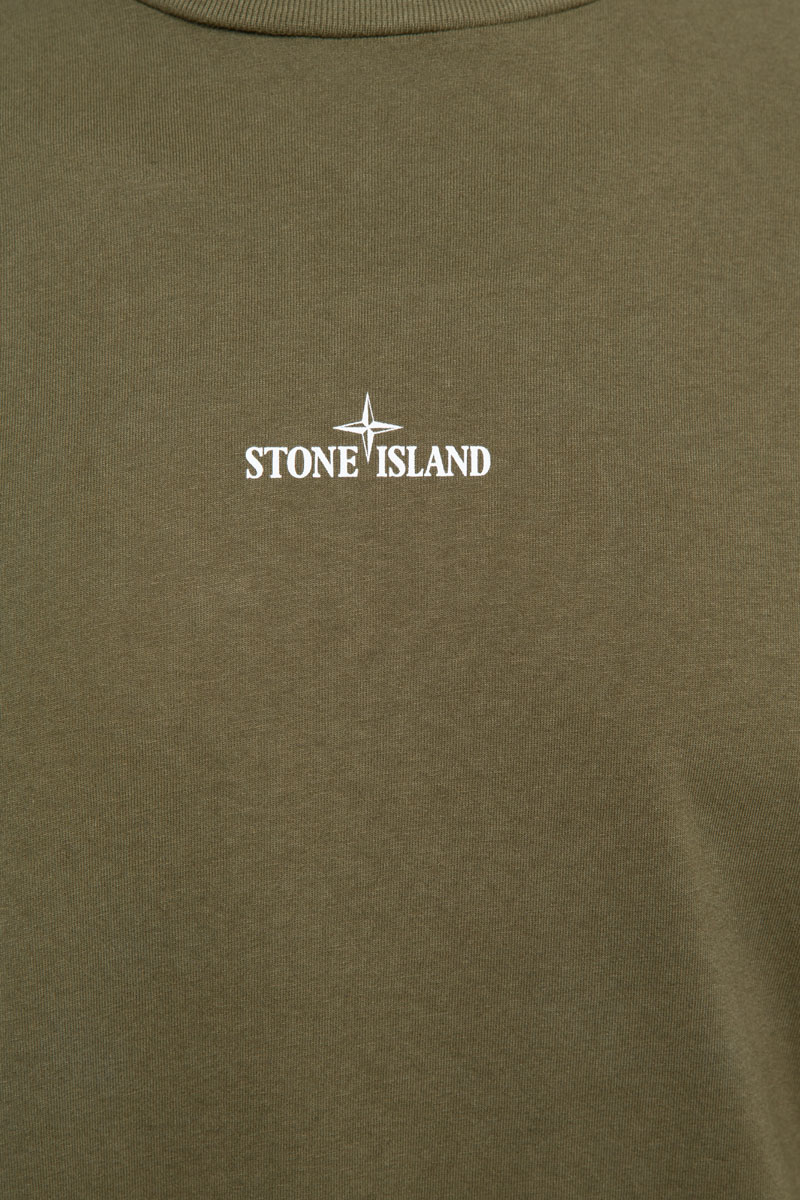 Stone Island T-Shirt 100% Katoen Print Front Foto 3