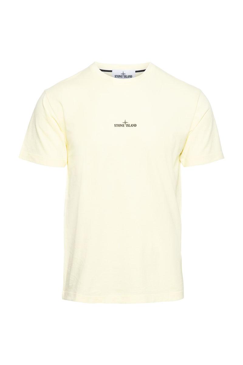 Stone Island T-Shirt 100% Katoen Print On The Back