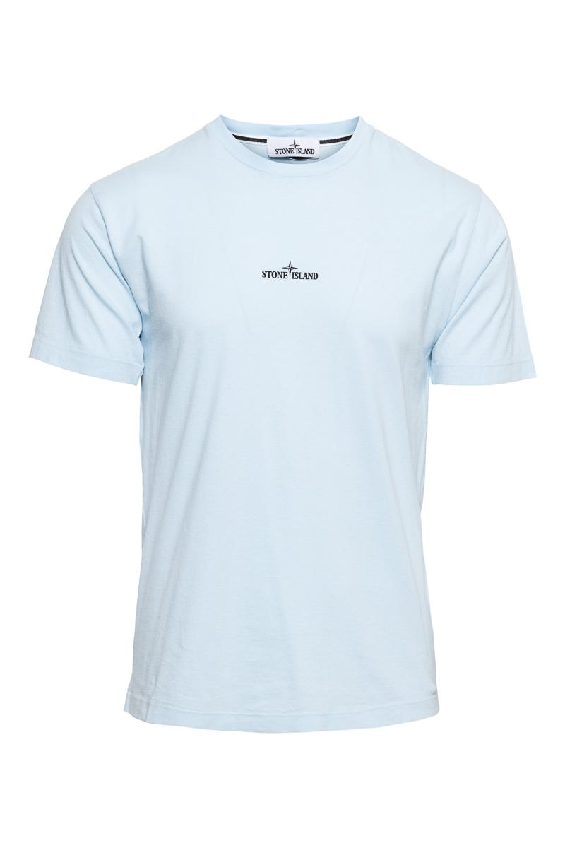 Stone Island T-Shirt 100% Katoen Print On The Back Foto 1