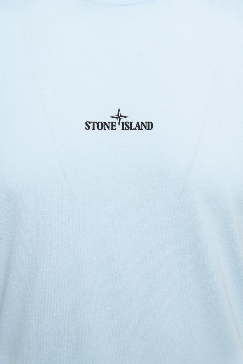 Stone Island T-Shirt 100% Katoen Print On The Back Foto 3