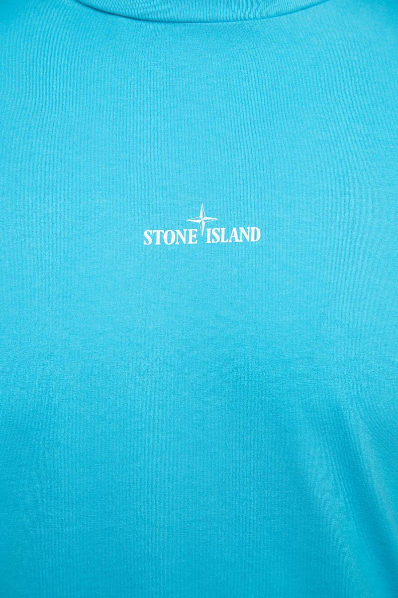 Stone Island T-Shirt 100% Katoen Print On The Fron Foto 3