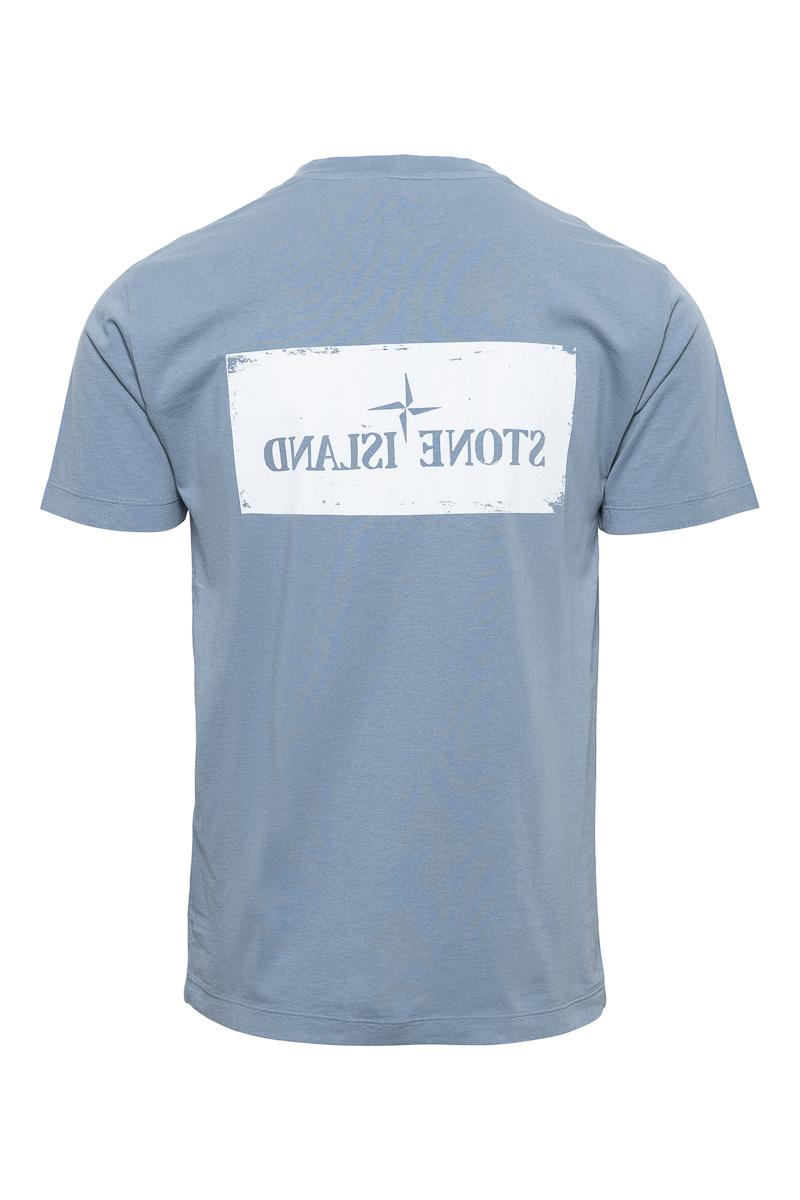 Stone Island T-Shirt 100% Katoen Print On The Fron Foto 2