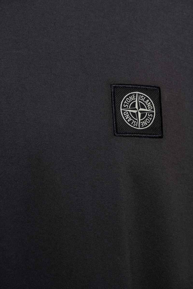Stone Island T-Shirt 22713 Lange Mouw Gemerceriseerd Antraciet Foto 3