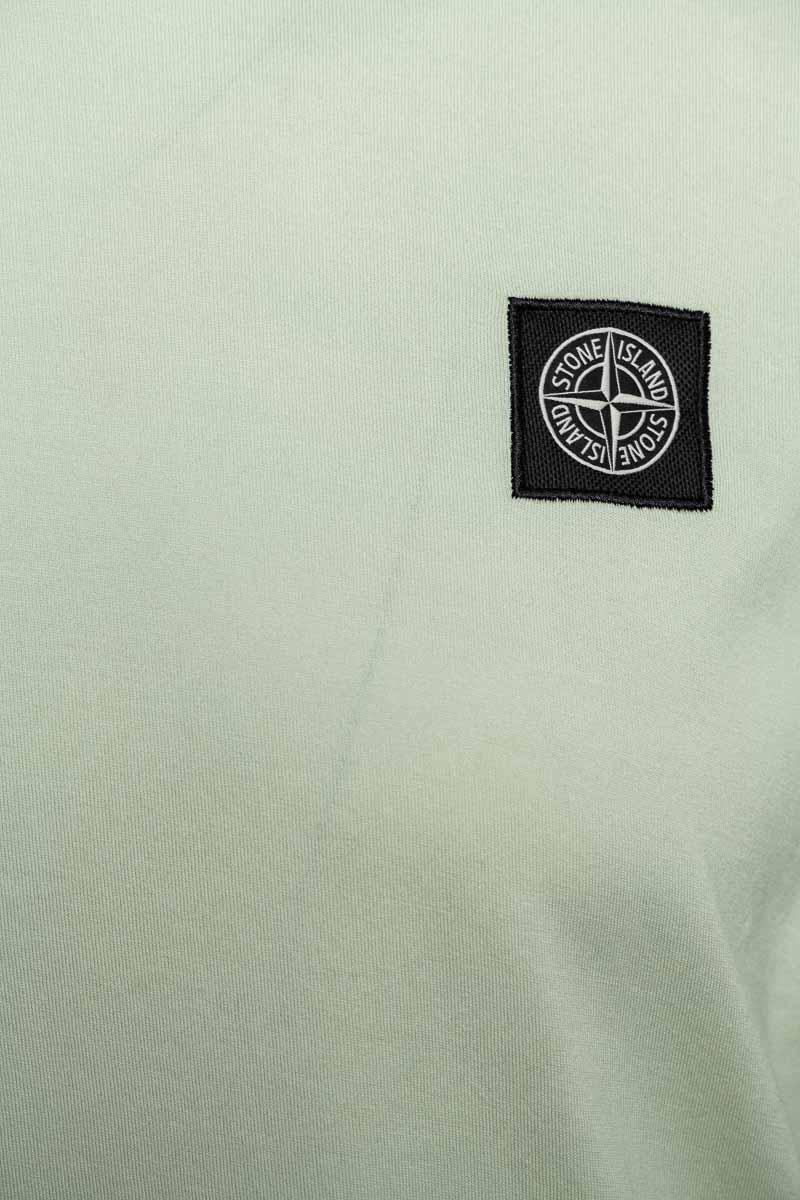 Stone Island T-Shirt 22713 Lange Mouw Gemerceriseerd Lichtgroen  Foto 3