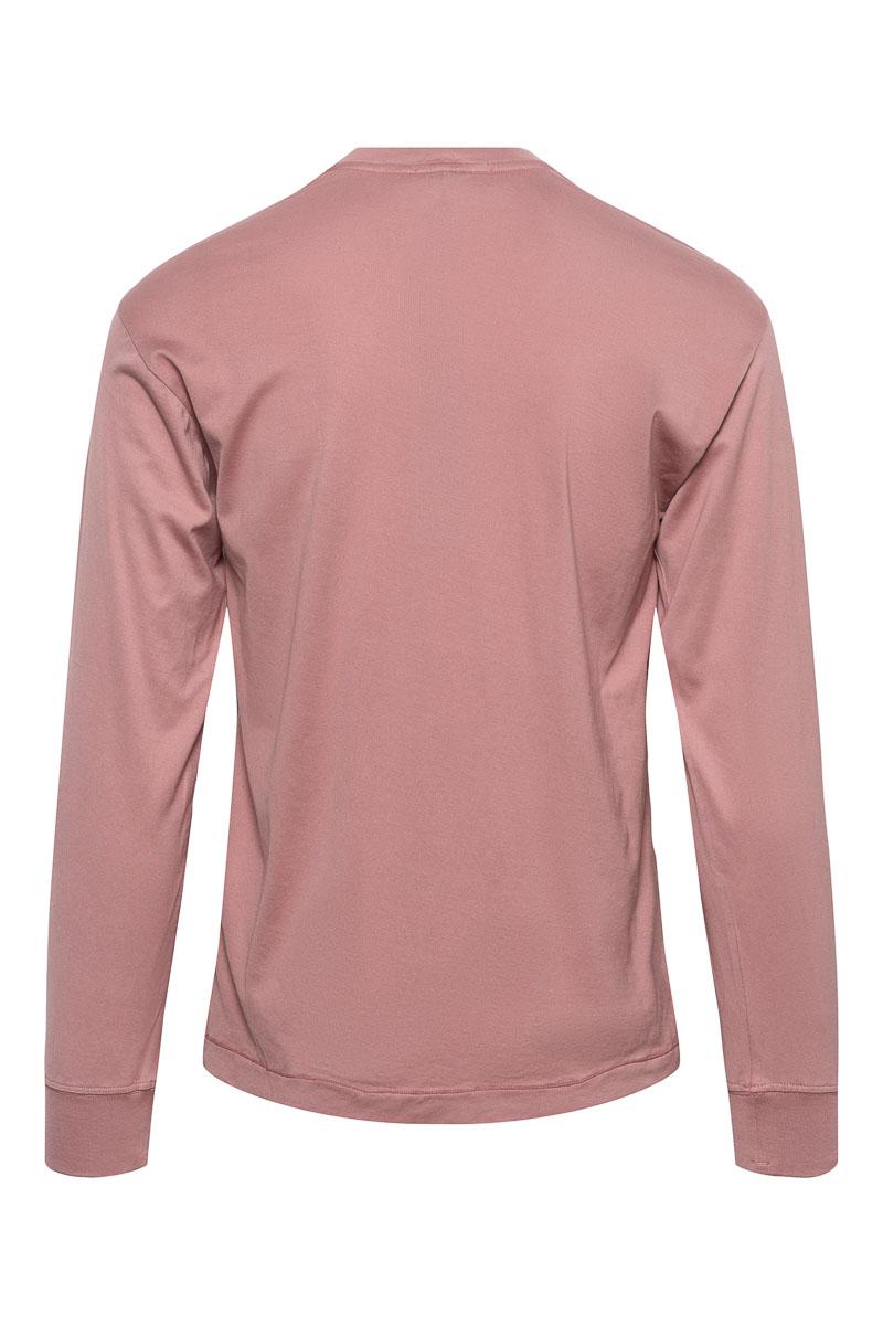 Stone Island T-Shirt 22713 Lange Mouw Gemerceriseerd Roze Foto 2