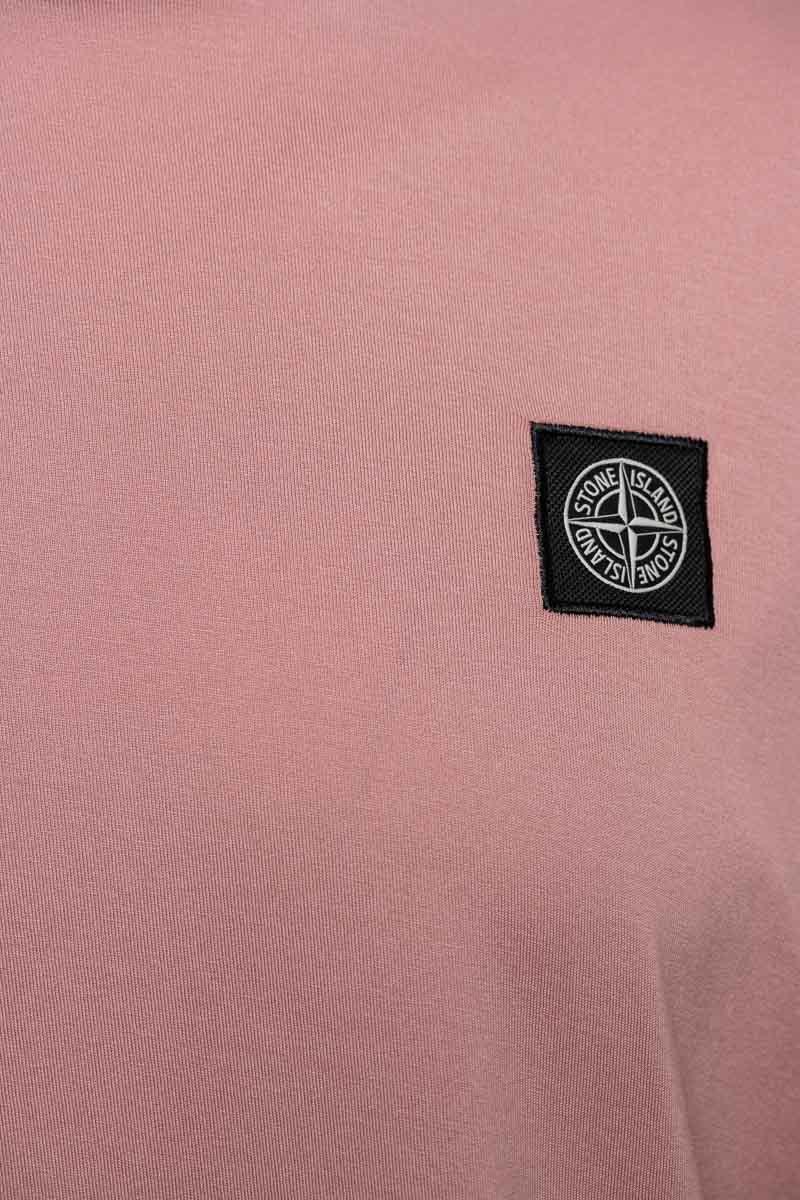 Stone Island T-Shirt 22713 Lange Mouw Gemerceriseerd Roze Foto 3