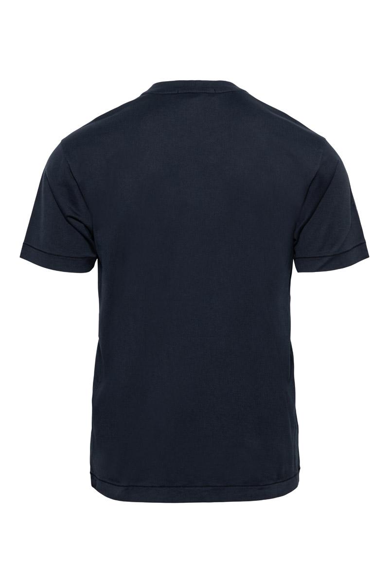 Stone Island T-Shirt 24113 100% Katoen Gemerceriseerd Donkerblauw Foto 2