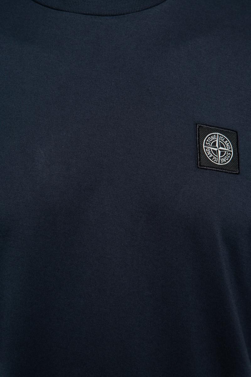 Stone Island T-Shirt 24113 100% Katoen Gemerceriseerd Donkerblauw Foto 3