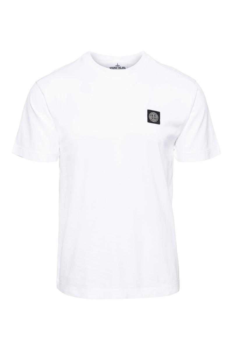 Stone Island T-Shirt 24113 100% Katoen Gemerceriseerd Katoen Wit