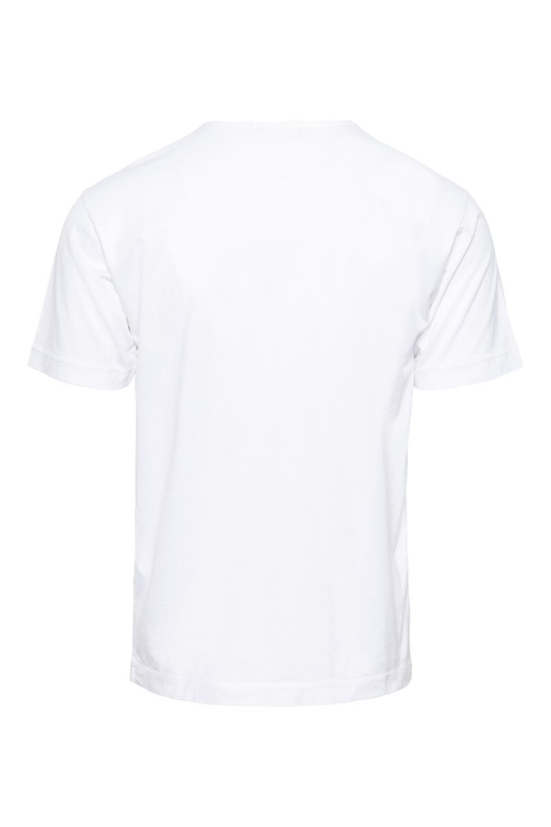Stone Island T-Shirt 24113 100% Katoen Gemerceriseerd Katoen Wit Foto 2