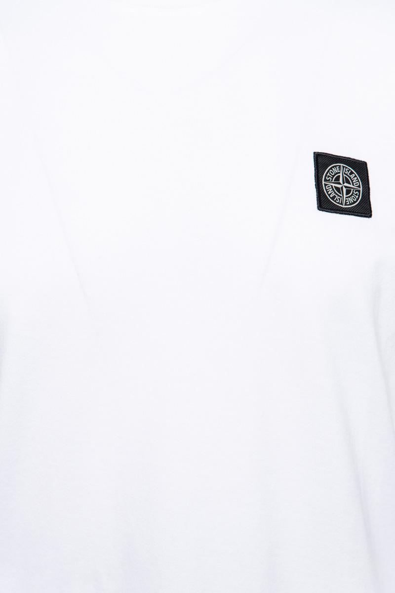 Stone Island T-Shirt 24113 100% Katoen Gemerceriseerd Katoen Wit Foto 3