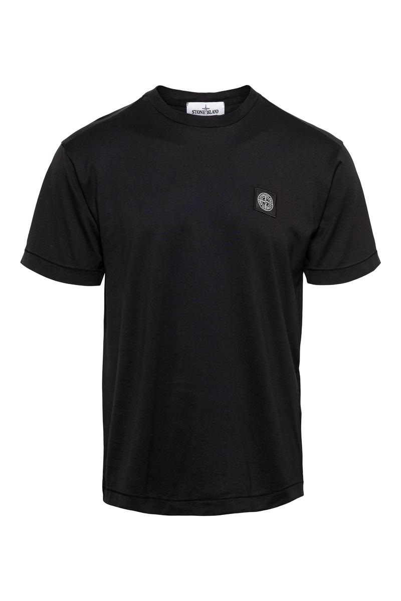 Stone Island T-Shirt 24113 Korte Mouw Slim fit Cotton Zwart