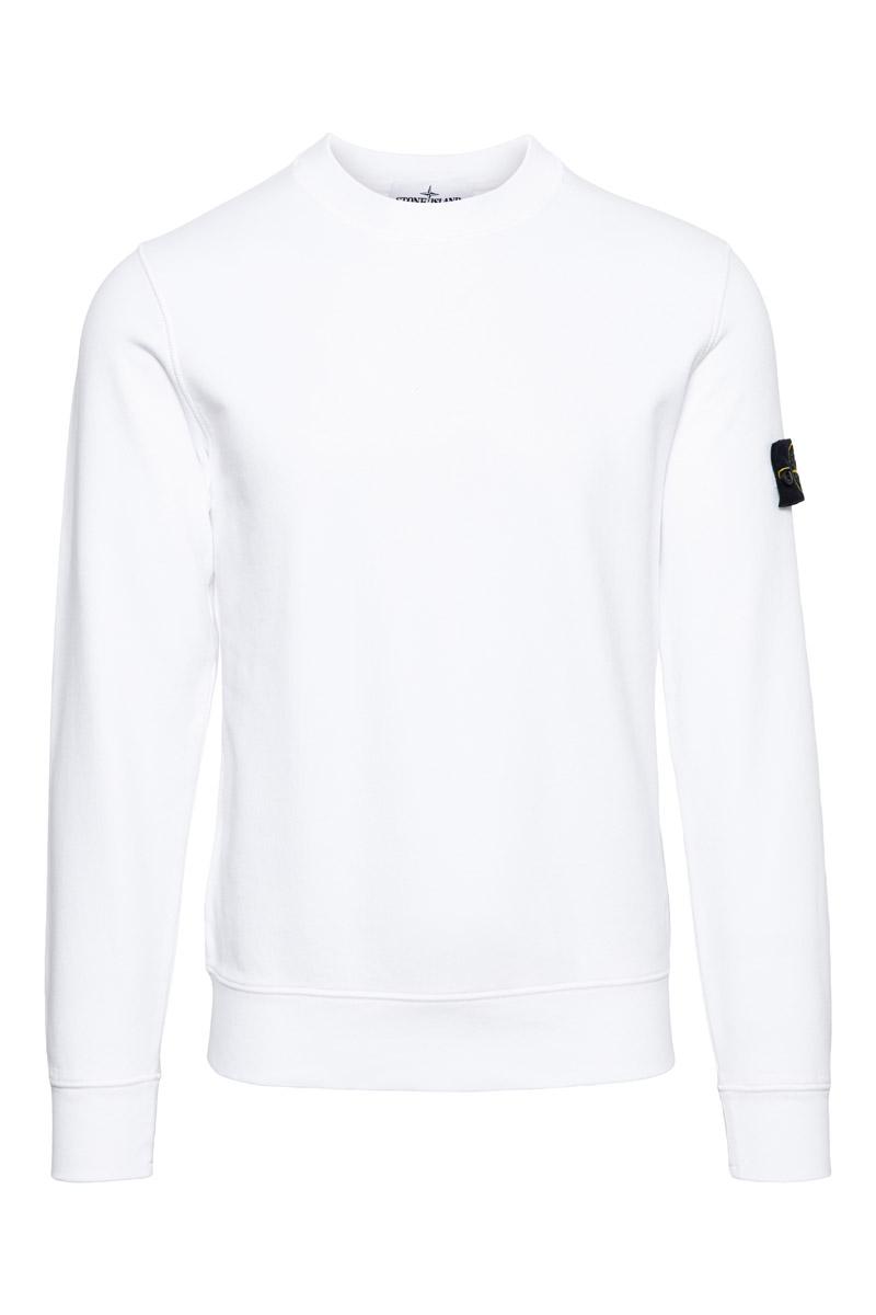 Stone Island Sweater 63051 Cotton 100% Katoen Wit