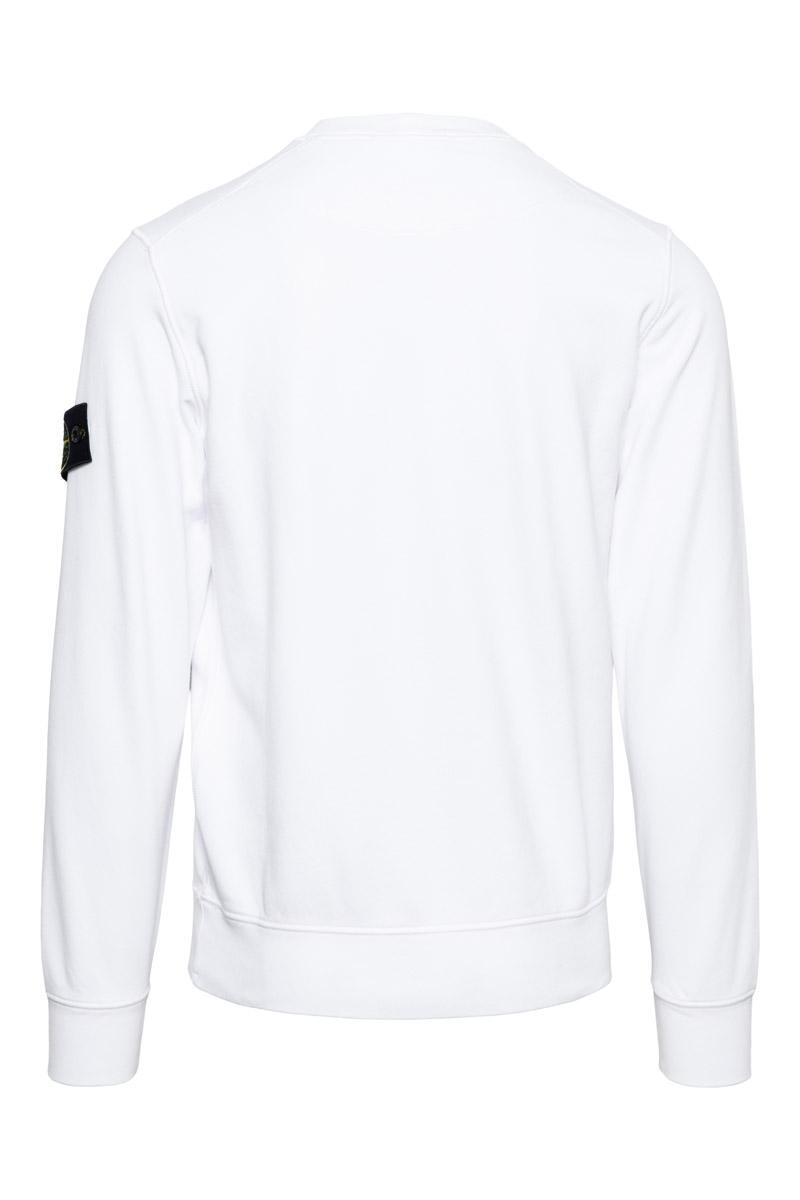 Stone Island Sweater 63051 Cotton 100% Katoen Wit Foto 2