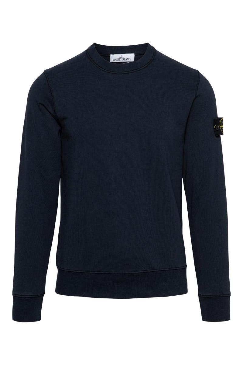 Stone Island Sweater 63051 Cotton 100% Katoen Donkerblauw