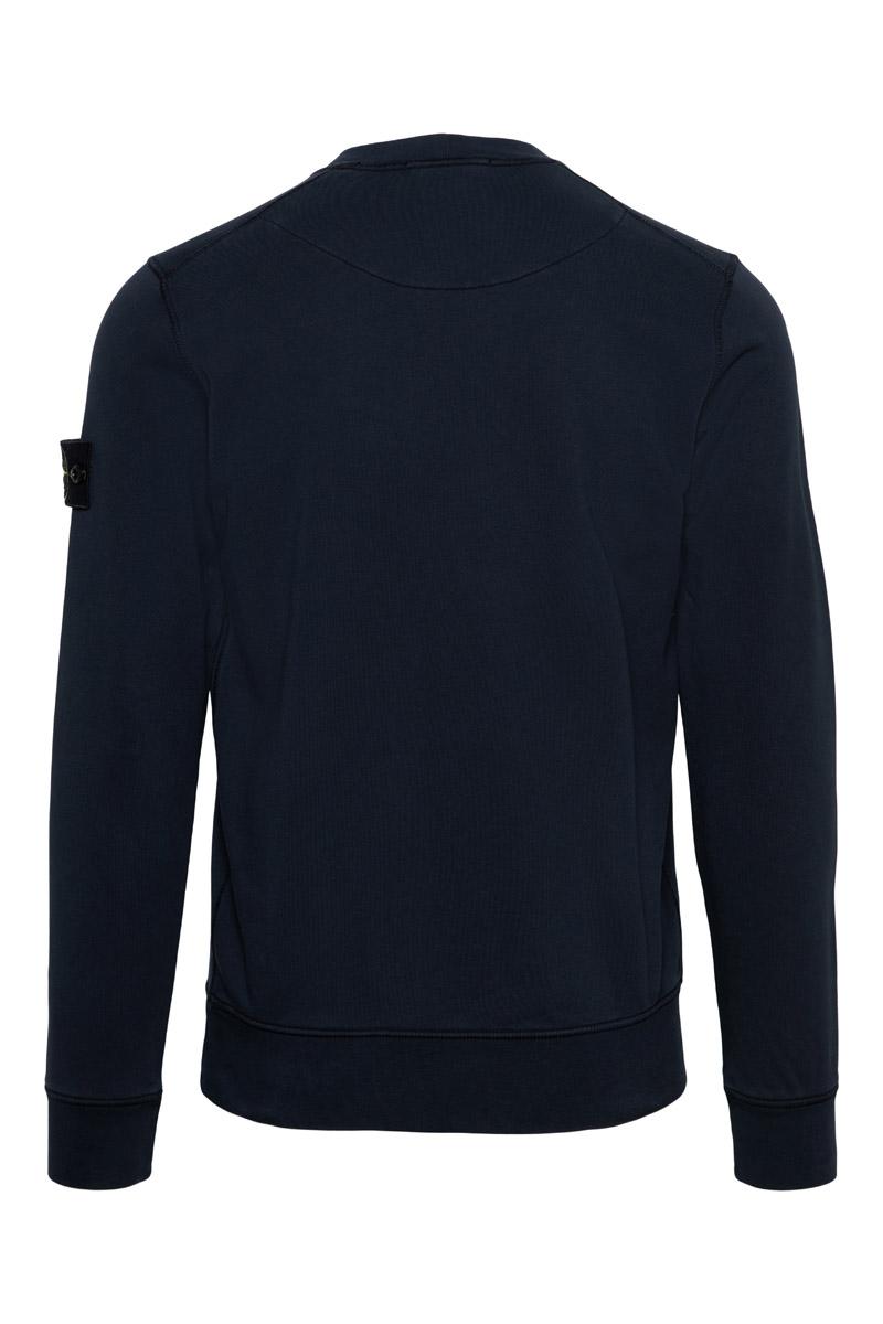 Stone Island Sweater 63051 Cotton 100% Katoen Donkerblauw Foto 2