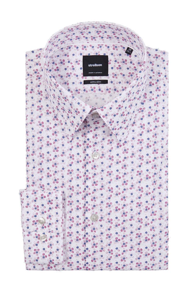 Strellson Overhemd Santos Cotton Stretch Print Foto 1