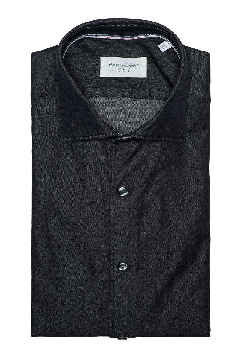 Tintoria Mattei Denim Shirt 100% Katoen Foto 1