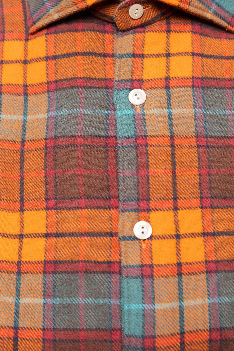 Tintoria Mattei Overhemd 100% Katoen Ruit Foto 2
