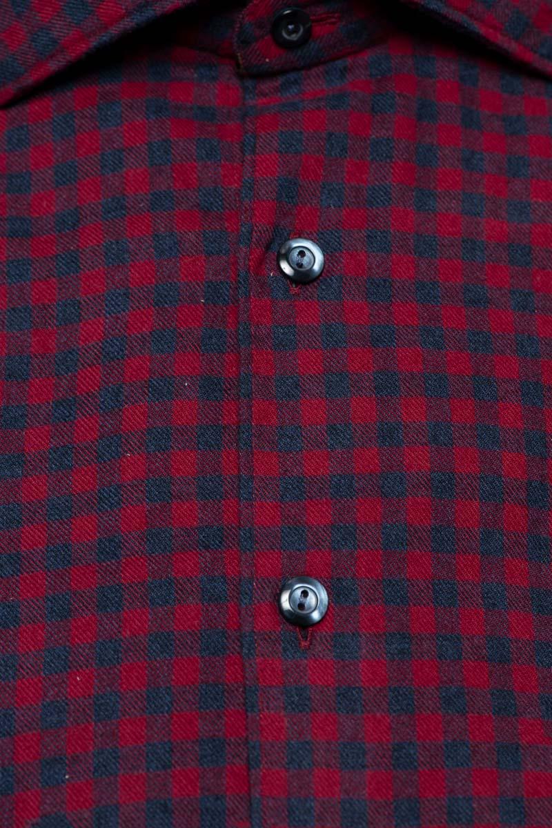 Tintoria Mattei Ruit Shirt 100% Katoen Foto 2