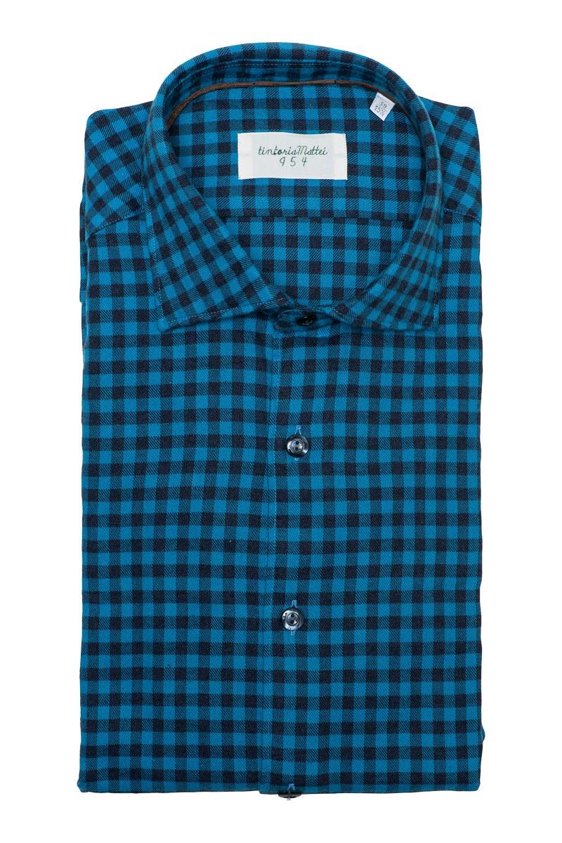 Tintoria Mattei Ruit Shirt 100% Katoen Foto 1