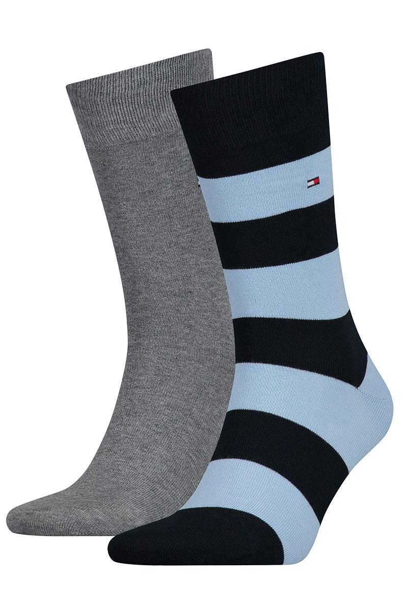 Tommy Hilfiger Sokken 2Pack Rugby Blue Combi Foto 1
