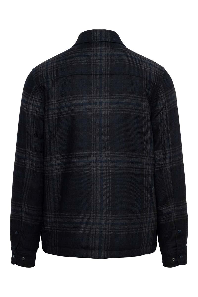 Woolrich Alasken Wool Overshirt Dons Gevoerd zwart geblokt Foto 2