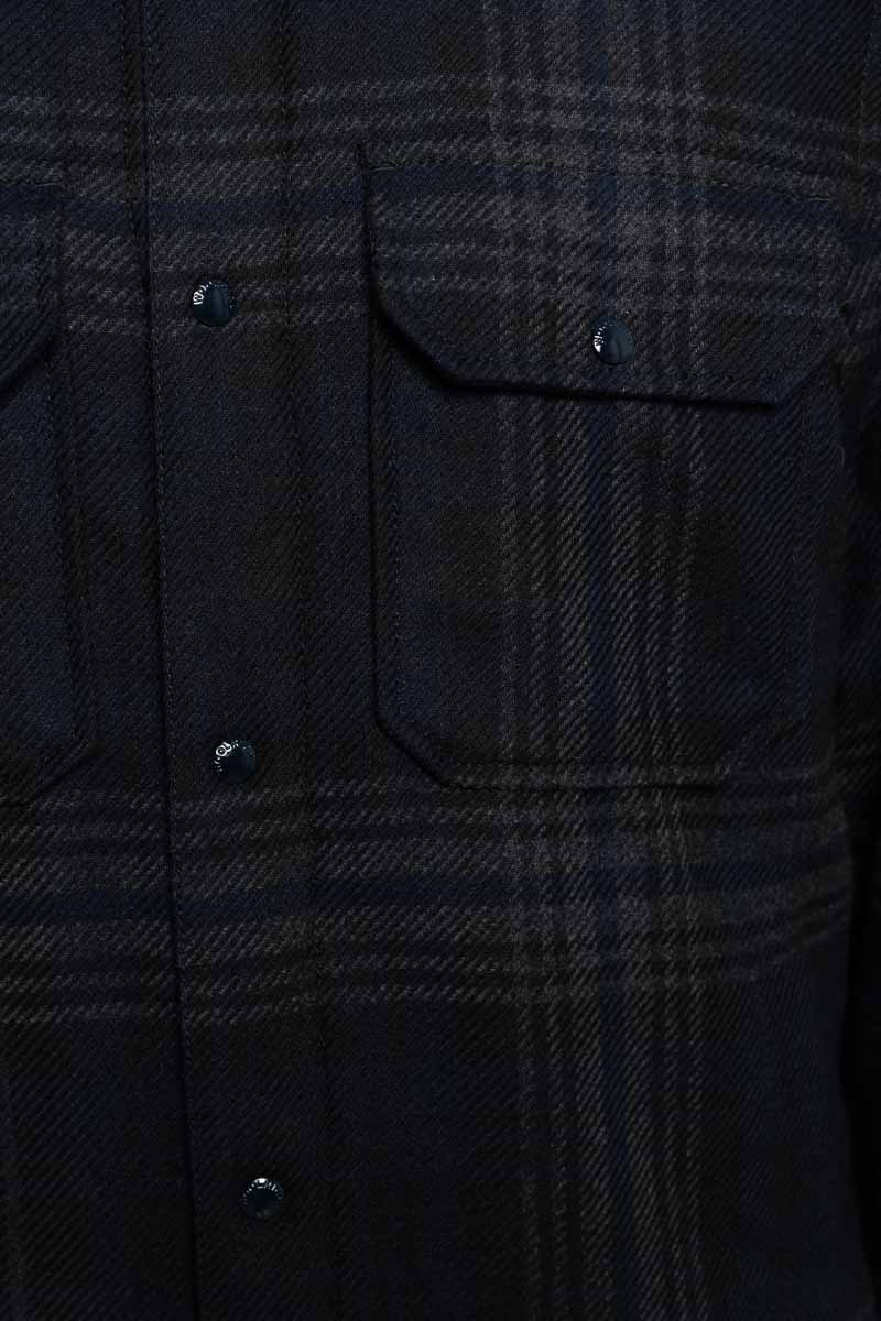 Woolrich Alasken Wool Overshirt Dons Gevoerd zwart geblokt Foto 3