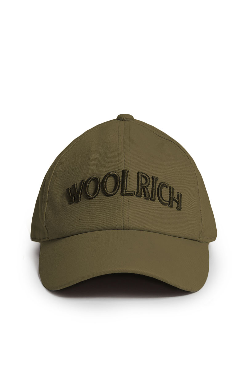 Woolrich Logo Baseball Hat Dark Green Foto 1