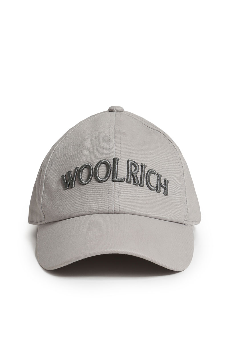 Woolrich Logo Baseball Hat Ghost Grey Foto 1