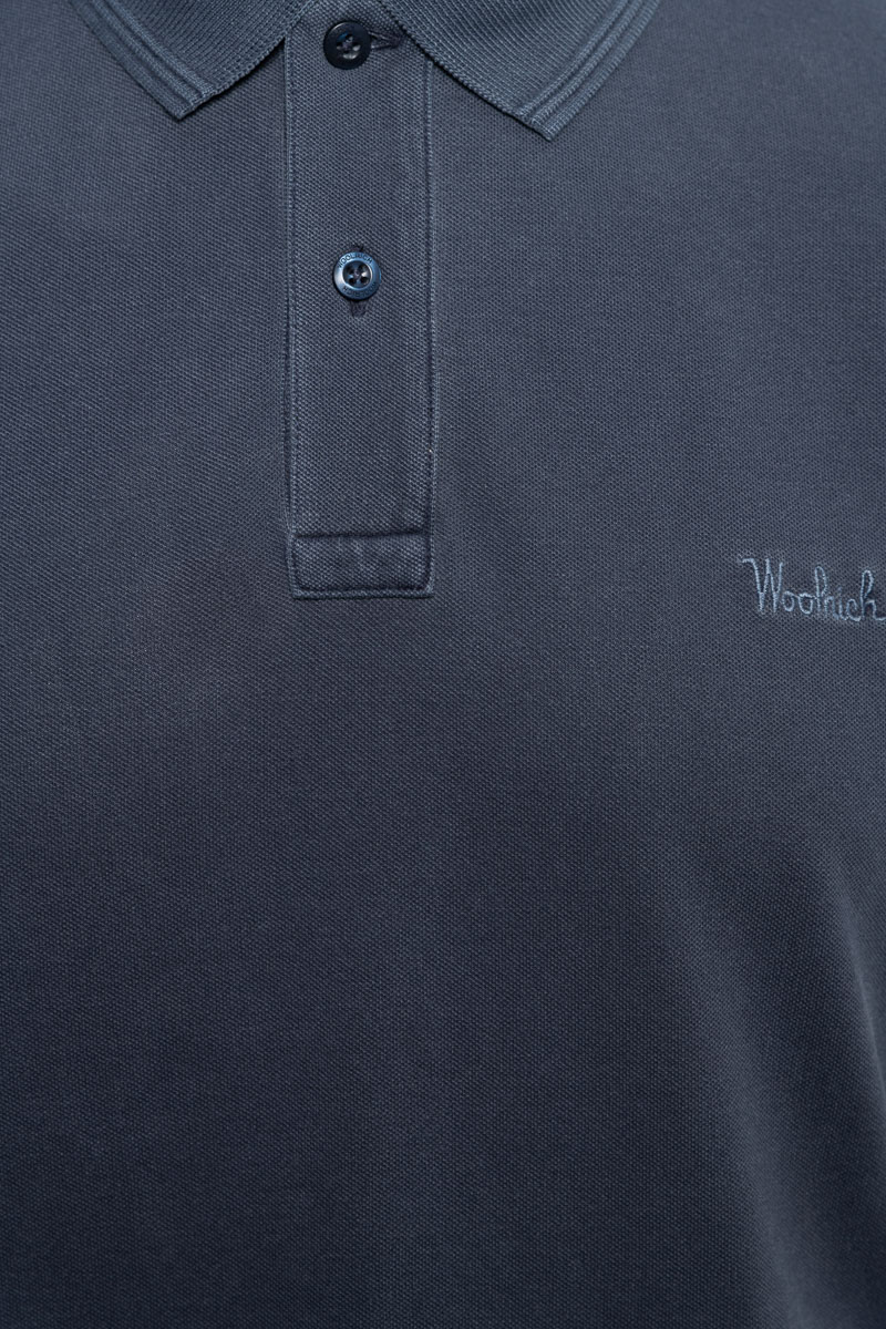 WOOLRICH Mackinack Polo Garment Dyed Stretch Pique Foto 3