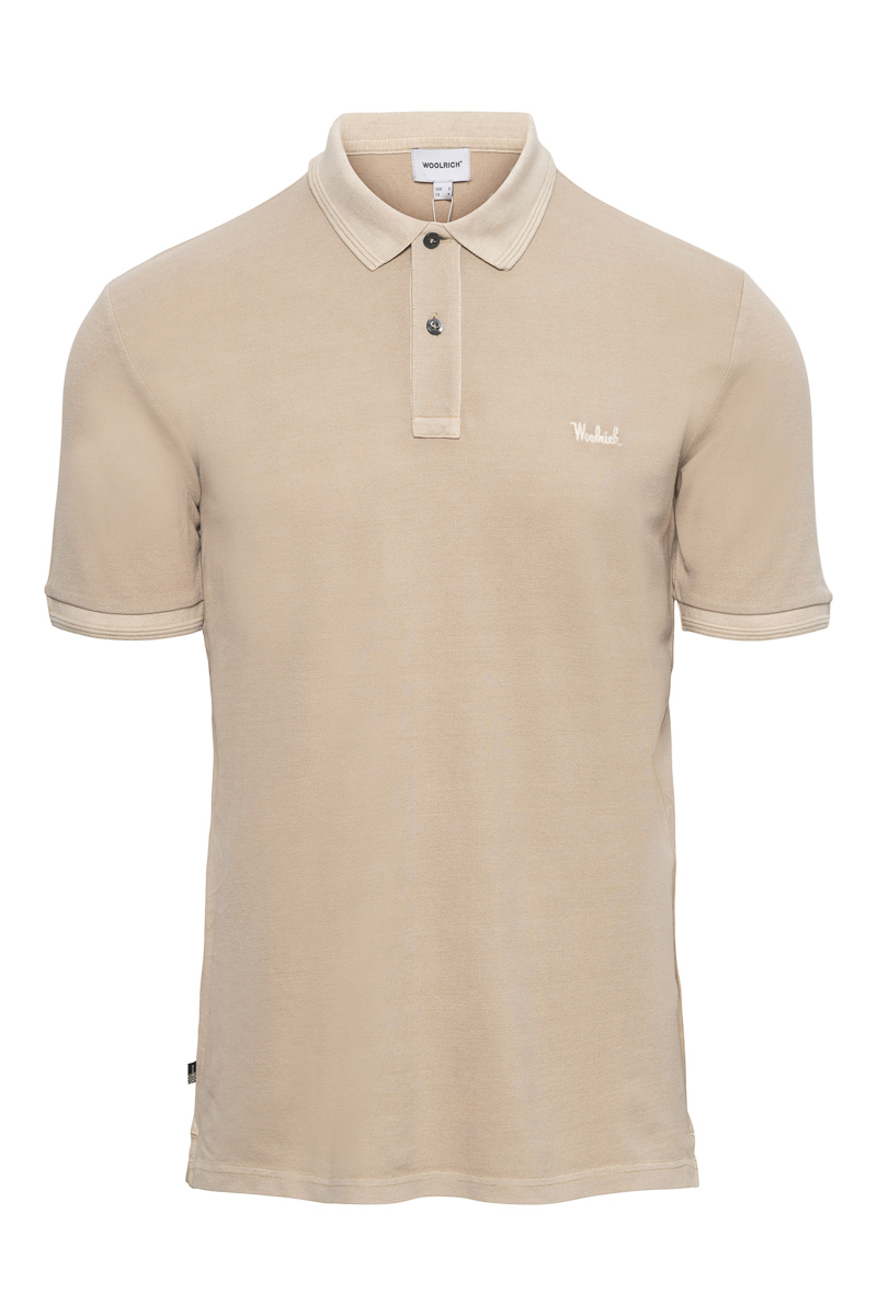 WOOLRICH Mackinack Polo Garment Dyed Stretch Pique Foto 1