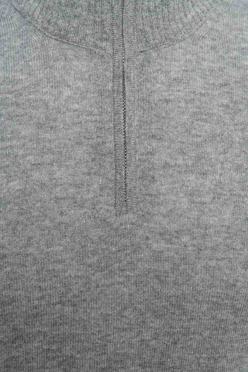 WOOLRICH Super Geelon Half Zip Polo Neck Made in I Foto 3
