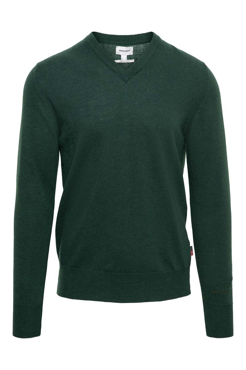 WOOLRICH Super Geelon V-Neck Made in Italy Foto 1
