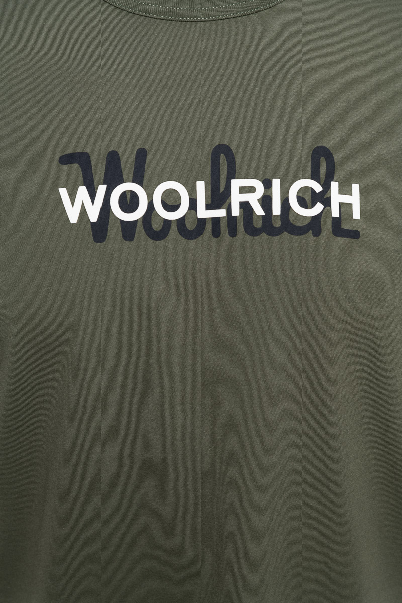 WOOLRICH T-Shirt Macro Logo Tee Foto 3