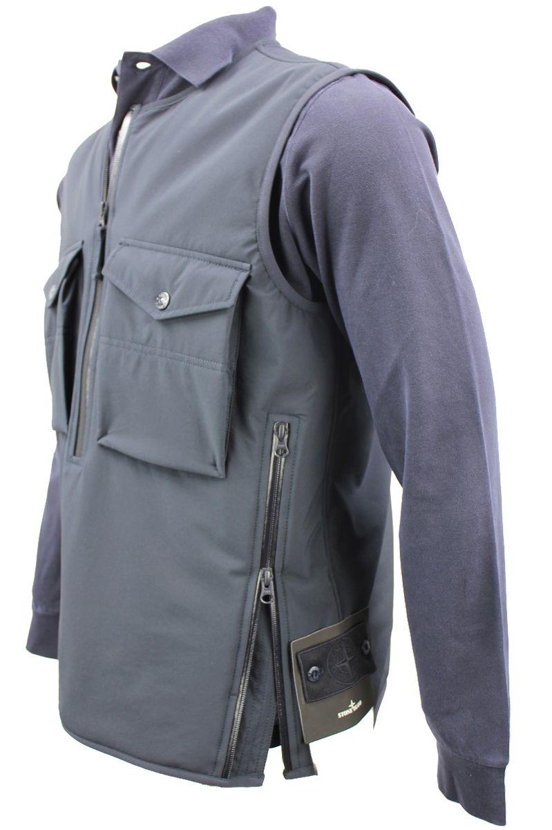 Stone Island Vest G03F1 Ghost Bodywarmer Polyester Stretch Donkerblauw Foto 5