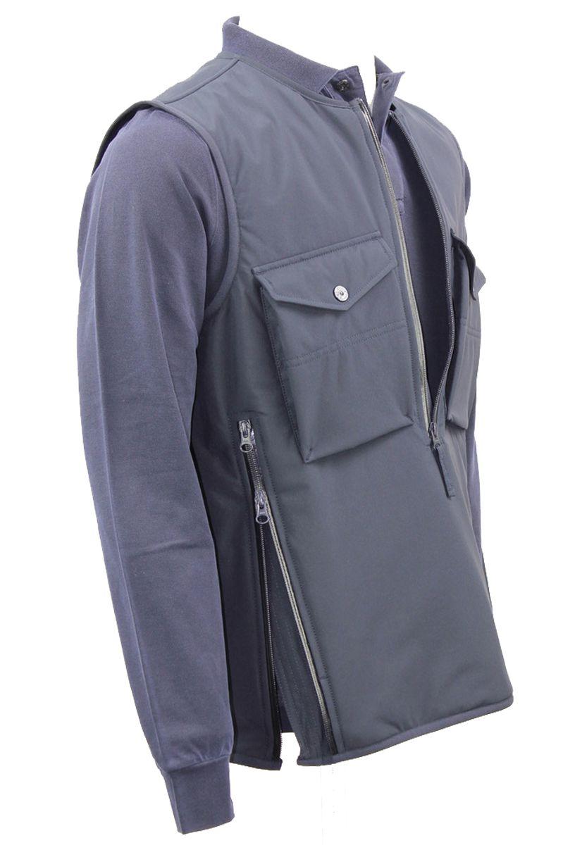 Stone Island Vest G03F1 Ghost Bodywarmer Polyester Stretch Donkerblauw Foto 4