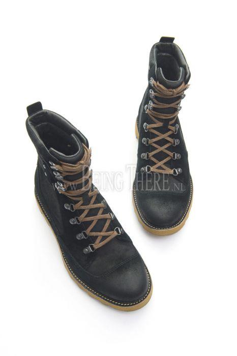 Sorel Mad Mukluk schoenenboots zwartsuedeleerwaxed
