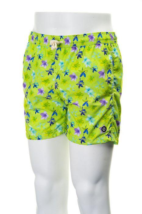 Tiki zwembroek Ibiza 38cm bloem groen