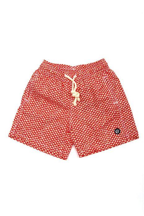 Tiki zwembroek Ibiza 38cm margriet rood