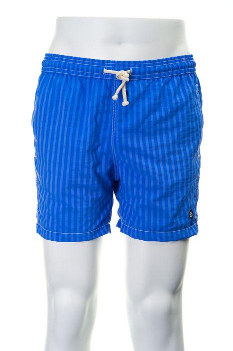 Tiki zwembroek Ibiza 38cm streep azzurro fluor